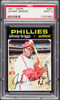 Baseball Cards:Singles (1970-Now), 1971 Topps Johnny Briggs #297 PSA Mint 9....