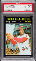 Baseball Cards:Singles (1970-Now), 1971 Topps Tony Taylor #246 PSA NM-MT 8....