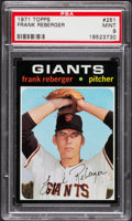 Baseball Cards:Singles (1970-Now), 1971 Topps Frank Reberger #251 PSA Mint 9 - Pop Four, None Higher....
