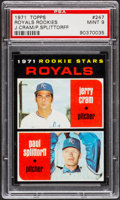 Baseball Cards:Singles (1970-Now), 1971 Topps Royals Rookies #247 PSA Mint 9....