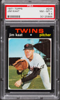 Baseball Cards:Singles (1970-Now), 1971 Topps Jim Kaat #245 PSA NM-MT+ 8.5....
