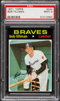 Baseball Cards:Singles (1970-Now), 1971 Topps Bob Tillman #244 PSA Mint 9....