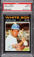 Baseball Cards:Singles (1970-Now), 1971 Topps Carlos May #243 PSA Mint 9....