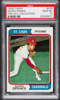 Baseball Cards:Singles (1970-Now), 1974 Topps Scipio Spinks #576 PSA Gem Mint 10 - Pop One. ...