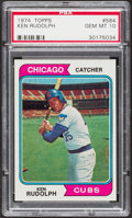 Baseball Cards:Singles (1970-Now), 1974 Topps Ken Rudolph #584 PSA Gem Mint 10....