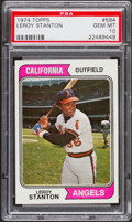Baseball Cards:Singles (1970-Now), 1974 Topps Leroy Stanton #594 PSA Gem Mint 10....