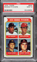 Baseball Cards:Singles (1970-Now), 1974 Topps Rookie Pitchers Frank Tanana #605 PSA Mint 9....