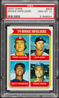 Baseball Cards:Singles (1970-Now), 1974 Topps Rookie Infielders Frank White #604 PSA Gem Mint 10....