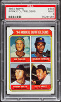 Baseball Cards:Singles (1970-Now), 1974 Topps Rookie Outfielders #606 PSA Mint 9....