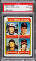 Baseball Cards:Singles (1970-Now), 1974 Topps Rookie Catchers #603 PSA Gem Mint 10....