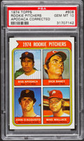 Baseball Cards:Singles (1970-Now), 1974 Topps Rookie Pitchers Apodaca Corrected #608 PSA Gem Mint10....