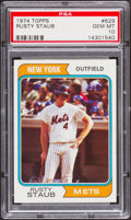 Baseball Cards:Singles (1970-Now), 1974 Topps Rusty Staub #629 PSA Gem Mint 10 - Pop One. ...