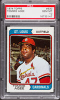 Baseball Cards:Singles (1970-Now), 1974 Topps Tommie Agee #630 PSA Gem Mint 10....