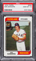 Baseball Cards:Singles (1970-Now), 1974 Topps Ken Sanders #638 PSA Gem Mint 10....