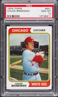 Baseball Cards:Singles (1970-Now), 1974 Topps Chuck Brinkman #641 PSA Gem Mint 10 - Pop Four. ...