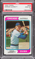 Baseball Cards:Singles (1970-Now), 1974 Topps Adrian Garrett #656 PSA Gem Mint 10 - Pop Three. ...