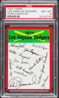 Baseball Cards:Singles (1970-Now), 1974 Topps Team Checklist Los Angeles Dodgers PSA NM-MT 8....