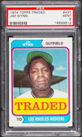 Baseball Cards:Singles (1970-Now), 1974 Topps Traded Jim Wynn #43T PSA Mint 9....