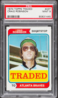 Baseball Cards:Singles (1970-Now), 1974 Topps Traded Craig Robinson #23T PSA Mint 9....