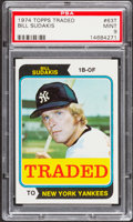 Baseball Cards:Singles (1970-Now), 1974 Topps Traded Bill Sudakis #63T PSA Mint 9....