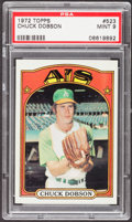 Baseball Cards:Singles (1970-Now), 1972 Topps Chuck Dobson #523 PSA Mint 9....