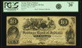 Obsoletes By State:Indiana, Connersville, IN - Savings Bank of Indiana $10 Aug. 23, 1854 IN-125 G6a, WVS 139-3. PCGS Very Fine 20.. ...