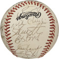 Autographs:Baseballs, 1991 Pittsburgh Pirates Team Signed Baseball. The 1991 PittsburghPirates were the NL East champions that year. the ONL ( W...