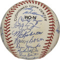 Autographs:Baseballs, 1995 Philadelphia Phillies Team Signed Baseball. The PhiladelphiaPhillies of 1995 added their signatures to the ONL (Colem...