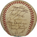 Autographs:Baseballs, 1987 California Angels Team Signed Baseball. Despite the bestefforts of manager Gene Mauch, the 1987 team only finished 6t...