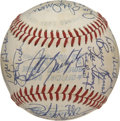 Autographs:Baseballs, 1982 Boston Red Sox Team Signed Baseball. Despite manager RalphHouk's best effort, the 1982 Red Sox team only managed to f...