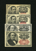 Fractional Currency:Fifth Issue, Fr. 1266 10c Fifth Issue Two Examples. VF, toned, edge nicks; AU.Fr. 1309 25c Fifth issue Two Examples. XF; Choice CU.. ... (Total:4 notes)