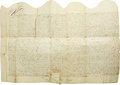 "Autographs:Statesmen, Seventeenth Century New York City Deed, one page with versodocketing, 27.5"" x 19.5"", September 7, 1692, New York City. Beau...(Total: 1 Item)"