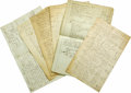 Miscellaneous:Ephemera, Archive of Accounts for the 18th Century Philadelphia SchoonerNimrod, consisting of eight manuscript documents, approxi...(Total: 8 items Item)