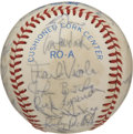 Autographs:Baseballs, 1984 Minnesota Twins (Puckett) Team Signed Baseball. The 1984Minnesota Twins had many stars and future stars on the team. ...
