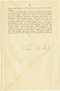 Autographs:U.S. Presidents, President Calvin Coolidge Document Signed, ...