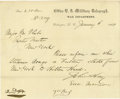 Autographs:Statesmen, John Hay Document Signed...