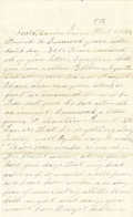 "Autographs:Military Figures, Union Soldier's Letter Great content letter by Lewis F. Stockwell of the Massachusetts 37th Infantry, 4 pages, ""Coald Harb... (Total: 1 Item)"