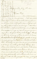"Autographs:Military Figures, Great Content Union Soldier's Letter by J. Henry Jenks, 4 pages, 5"" x 8"", Algiers, La., July 7, 1864, writing to his wife ab... (Total: 1 Item)"