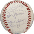 Autographs:Baseballs, 1982 Kansas City Royals Team Signed Baseball. The Kansas CityRoyals of 1982 finished 2nd in the division that year, led by...