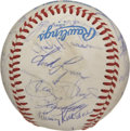 Autographs:Baseballs, 1982 California Angels Team Signed Baseball. Twenty-seven membersof the 1982 California Angels team added their signatures...