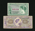 Military Payment Certificates:Series 651, Series 651 $1; $10.... (Total: 2 notes)