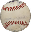 Autographs:Baseballs, 1982 Old Timers Day Multi-Signed Baseball. Official American League(MacPhail) orb that we offer here was signed by ninetee...