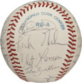 Autographs:Baseballs, 1982 Detroit Tigers team Signed Baseball. Led by the Hall of Famemanager, Sparky Anderson, the 1982 Detroit Tigers had a f...