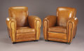 Decorative Arts, French, A Pair of French Art Deco Lounge Chairs. . 32 inches (81.3cm). ... (Total: 2 Items)