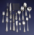 Silver Flatware, American:Wallace , An American Silver Flatware Service. Wallace Silversmiths,Wallingford, Connecticut. Circa 1936. Silver, stainless. Marks:...(Total: 119 Items)