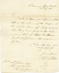 "Autographs:Statesmen, Albert Gallatin 1806 Autograph Letter Signed as Secretary of theTreasury ""Albert Gallatin"". One page, 8"" x 9.75"", July ...(Total: 1 Item)"