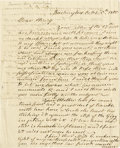 "Autographs:Statesmen, Henry Dearborn 1805 Autograph Letter to His Son signed ""H.Dearborn"". Two pages, 7.75"" x 9.75"", Washington, October 5, ..."