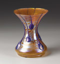 Art Glass:Loetz, Loetz: AN IRIDESCENT APPLIED TEARDROP GLASS VASE (Loetz)
