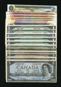 Canadian Currency: , The True North Strong and Free.. ... (Total: 18 notes)