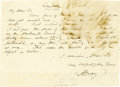 """Autographs:Inventors, American Botanist Asa Gray Autograph Letter Signed """"A.Gray"""". One page, 7.5"""" x 5.5"""", Cambridge, March 7, 1844, in ink.I... (Total: 1 Item)"""